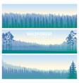 the blue wildforest landscape set vector image