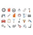 Mechanic icons set vector image