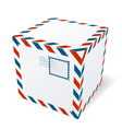Isolated cardboard box vector image vector image