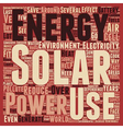 Solar Power How Does It Save The Environment text vector image