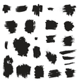 Grunge painted brush strokes Design elements set vector image vector image
