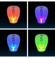 2014 Chinese lanterns vector image