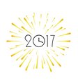 2017 new year design template Greeting background vector image