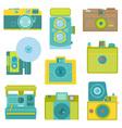 Set of Flat Photo Cameras vector image vector image