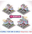 Game Set 16 Building Isometric vector image vector image