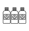 Printer ink bottles icon outline style vector image