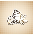 cakes sign vector image