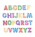 Childrens cartoon ABC vector image