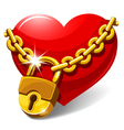 Closed heart vector image