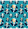 Different sailors seamless pattern in cartooning vector image