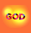 god theme word art vector image