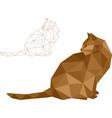 low polygon cat vector image