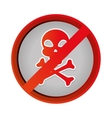 skull danger symbol icon vector image
