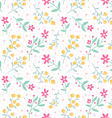 Spring mood seamless floral pattern vector image