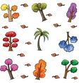 Set of various tree doodles vector image