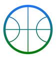 basketball ball sign white vector image vector image