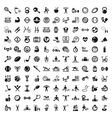 fitness and diet icons vector image