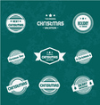 Set of Christmas vintages for Christmas vector image vector image