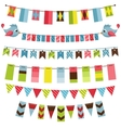 bunting and garland set vector image vector image