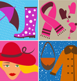 fashion design elements vector image vector image