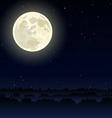 Night landscape vector image vector image