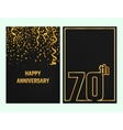 Anniversary Outline card gold vector image