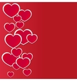 background made of red heart stickers vector image