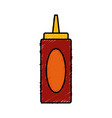 ketchup bottle isolated vector image