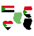 Map of the Republic of Sudan vector image