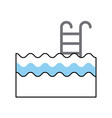 pool with stairs icon vector image