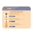review rating speeches in web site vector image