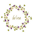 Wine label or background with vines and grape - vector image