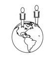 world people community social media communication vector image