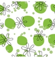 Outline flowers on green spots vector image vector image