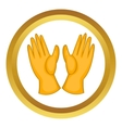 Rubber gloves icon vector image