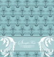 blue floral card vector image vector image