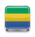 Metal icon of Gabon vector image