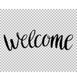 Hello Hand draw lettering on transparent vector image vector image