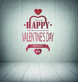 Valentines Day Wooden Background vector image vector image