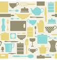 kitchen pattern vector image vector image