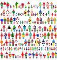 Background flag people patterns vector image