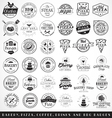 Bakery Butchery and Pizza Badges and Labels vector image