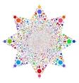 Ball Salute Flower vector image