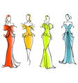 Modern and elegant dresses vector image