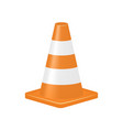 orange traffic cone vector image