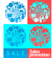 Sales promotion collage vector image