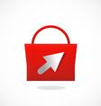 shopping bag online logo vector image
