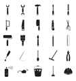 Simple black set of tools icons vector image
