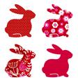 spring bunny set vector image