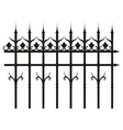 vintage iron fence vector image
